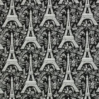 Michael Miller Paris Eiffel Tower Black & White Cotton Quilt Quilting