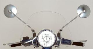 Spiegelsatz (rechter und linker Spiegel ) für die Vespa PX in chrome