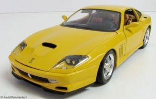 BBURAGO 1996 Ferrari 550 Maranello gelb Scale 118 OVP