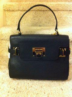 MICHAEL Michael Kors Astrid Medium Top handle leather satchel Black