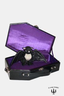 Gothic vampir XL Reise Sarg violett lila ausgeschlagen Handtasche
