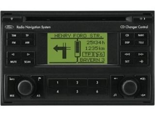 Radio Navigation Blaupunkt Monochrom FORD Galaxy m. CD YM21 18K876 NA