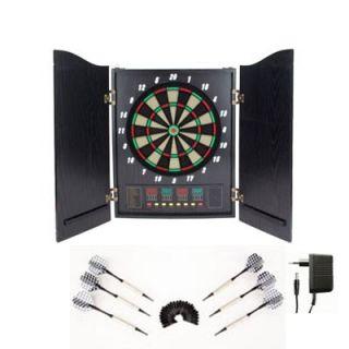 Aufklappbares Elektro Dartspiel mit 5 LED Displays Dartscheibe Dart