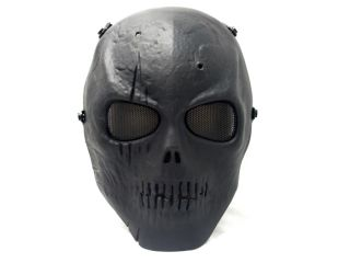 Airsoft Defender Security Totenkopf Skull Maske BK
