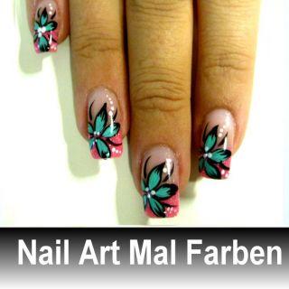 880f .Nail Art Acryl Malfarben 12 Farben .