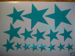 Aufkleber 35 Sterne, Auto, Autotuning, Sticker, PC,tür