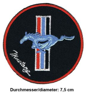 FORD MUSTANG Aufnäher Patches USA Auto PKW Shelby GT