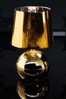 Tischlampe Tischleuchte Nachttischlampe Carmina gold NEU