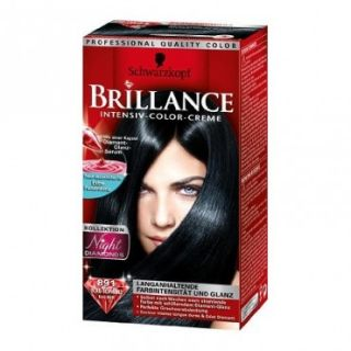 Brillance 891 Blau Schwarz Intensiv Color Creme Farbe Haarfarbe