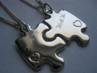 Freundschaftsanhänger Partneranhänger Silber 925 gratis Gravur