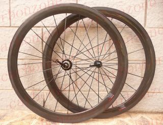 50mm 700C Carbon Road/TT bike Tubular Wheels/Wheelsets