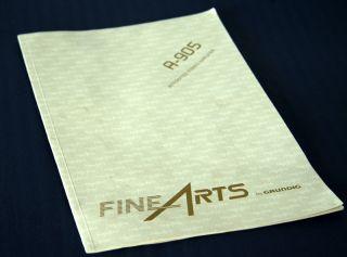 Grundig Fine Arts A 905 High End Verstärker Holzseiten!