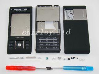 Schwarz Neu Sony Ericsson C905 Gehäuse Tastatur Cover