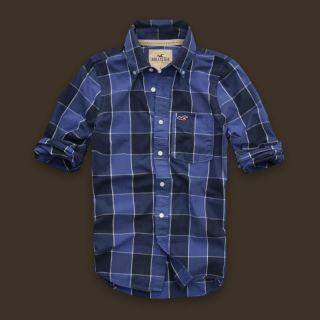 HOLLISTER Herren Shirt Hemd blau kariert Gr.M Neu