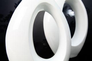 Bodenvase Design Vase LOUNGE weiss 55cm NEU