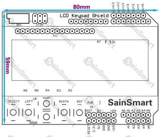 SainSmart Mega2560+1602 LCD Keypad+Prototype Shield Kit For Arduino