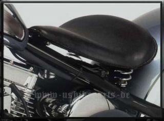 Sattel Solo Springer Echtleder Schwarz Harley Davidson