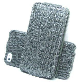 Handytasche für Apple iPhone 4 4S Kroko Tasche Etui Hülle Flip Case