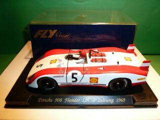 Fly Porsche 908 Flunder LH Zeltweg 1969 Slot Car in Box