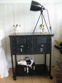 Sideboard Vintage Kommode Metall Rollcontainer Schrank Modern Loft