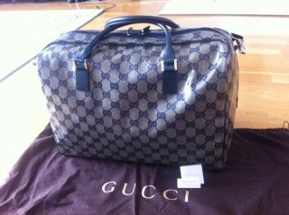 Original Gucci Reisetasche / Coated Canvas Leather NEU € 910,