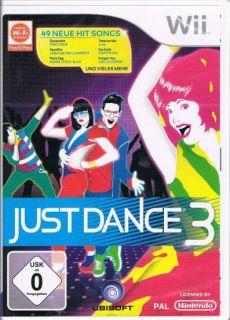 Nintendo Wii Spiel Just Dance 3 Tanzspiel 49 neue Hit Songs NEU