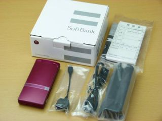 SHARP SOFTBANK 007SH RED 16 1MP AQUOS HYBRID ANDROID MOBILE CELL PHONE