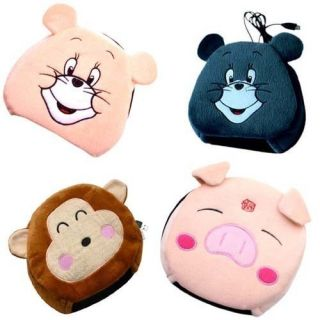 Lovely Cartoon Design Plush Warmer USB Mouse Pad Mat B