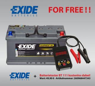 GEL Batterie Exide 12V 80AH ES900 G80 Boot Wohnmobil inkl