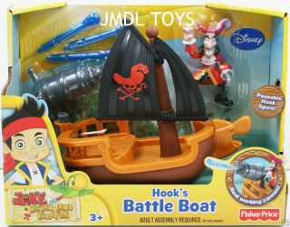 JAKE and THE NEVER LAND PIRATES HOOKS BATTLE BOAT