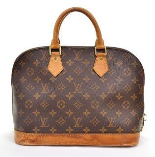 Authentic LOUIS VUITTON Alma monogram handbag Bag L901