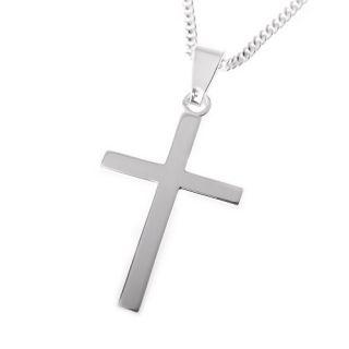 Kreuz Kette Konfirmation Firmung 925 Silber Kinder Anhaenger Halskette