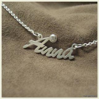 Namenskette * Anna * 925er Silber & 1 Zirkonia mit 1 Tag Versandzeit