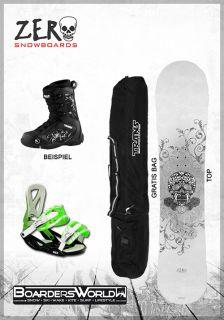 SET   ZERO Snowboard RIDER + Bindung + GRATIS Boots + Bag + Pad