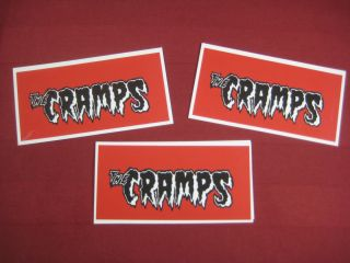 The CRAMPS Vinyl Decals stickers lot x 2 Punk Rock