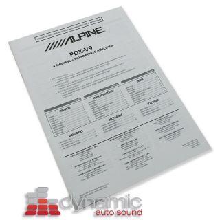 ALPINE PDX V9 5 CHANNEL PDX SERIES CAR AUDIO AMPLIFIER AMP 900 WATTS