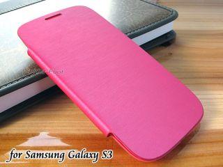 AKKU Deckel Leder Flip Case tasche Cover Pink für Samsung Galaxy