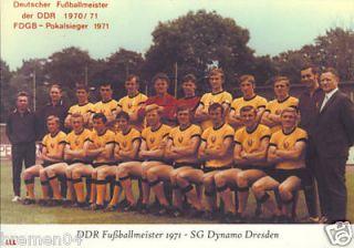 SG DYNAMO DRESDEN + Deutscher Meister DDR 70/71 + FDGB Pokal 1971