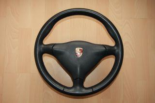 Orig. Porsche 3 Speichen Lenkrad inkl. Airbag für 911 993 996 986