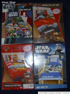 Disney Cars 2 / Star Wars Clone Wars Bettwäsche 135X200 NEU XXL