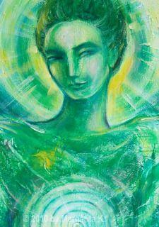 Erzengel Raphael Archangel Engel Angel Meditation Original Painting