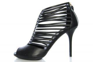 948 Womens GUCCI Sandals Pumps 252130 B8I00 1000 INGA Open Toe Black