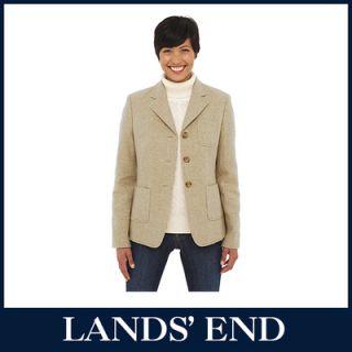 LANDS END Damen Blazer Jacke Wolle Mohair  50%