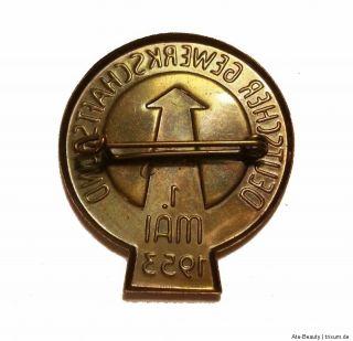 DDR Orden 1 Mai Pin Abzeichen 1953 Deutscher Gewerkschaftsbund