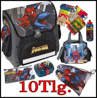 Schulranzen Undercover 10Tlg Spider Man Sense Schwarz Sporttasche Cube
