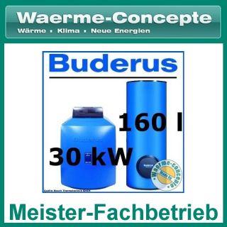 Buderus GB125 30 kW Öl Brennwert Heizung +Logalux SU160 +Logamatic