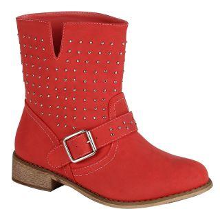 Biker Boots Damen Stiefel Stiefelette 95408 Nieten Schuhe Gr. 36 41