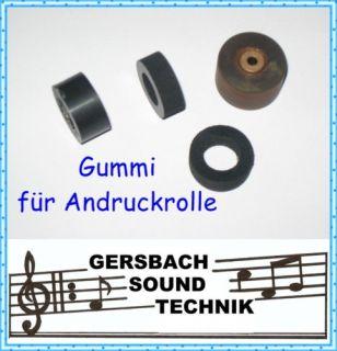Gummi für Andruckrolle Pinch roller Telefunken M 204 TS
