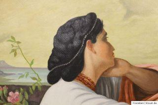 Öl Gemälde Bild Oil Painting Dame signiert 1946