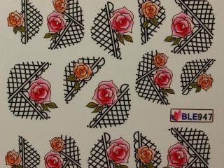 Nail Art Sticker Tattoo One Stroke BLE 947
